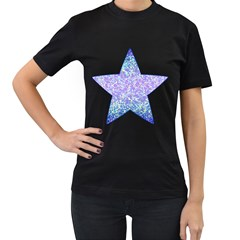 Glitter2 Women s Two Sided T-shirt (Black)