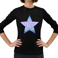 Glitter2 Women s Long Sleeve T-shirt (Dark Colored)