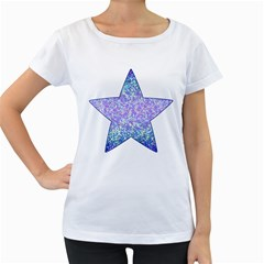 Glitter2 Women s Maternity T Shirt (white)