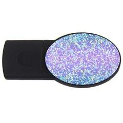Glitter2 4GB USB Flash Drive (Oval)