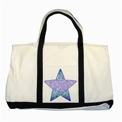 Glitter2 Two Toned Tote Bag