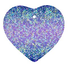 Glitter2 Heart Ornament (two Sides)