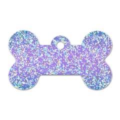 Glitter2 Dog Tag Bone (two Sided)
