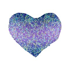 Glitter2 16  Premium Heart Shape Cushion