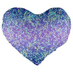 Glitter2 19  Premium Heart Shape Cushion