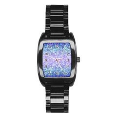 Glitter2 Stainless Steel Barrel Watch