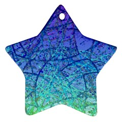 Grunge Art Abstract G57 Ornament (star)