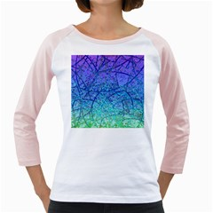 Grunge Art Abstract G57 Girly Raglan