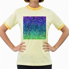 Grunge Art Abstract G57 Women s Fitted Ringer T-Shirt