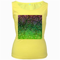 Grunge Art Abstract G57 Women s Yellow Tank Top