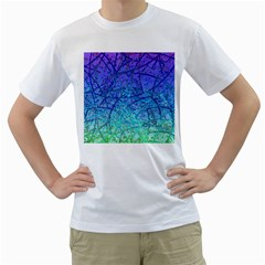 Grunge Art Abstract G57 Men s T-Shirt (White) (Two Sided)