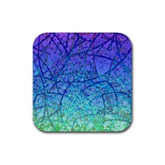 Grunge Art Abstract G57 Rubber Coaster (Square)