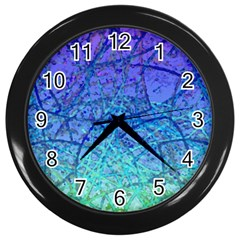 Grunge Art Abstract G57 Wall Clock (Black)