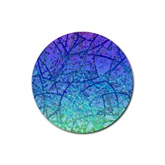 Grunge Art Abstract G57 Rubber Round Coaster (4 Pack)