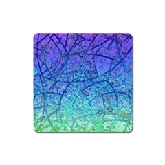 Grunge Art Abstract G57 Magnet (Square)