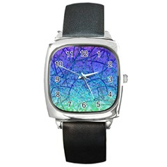 Grunge Art Abstract G57 Square Metal Watch