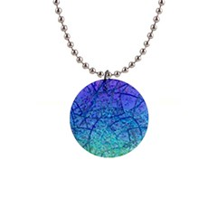 Grunge Art Abstract G57 1  Button Necklace