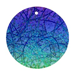 Grunge Art Abstract G57 Round Ornament (Two Sides)
