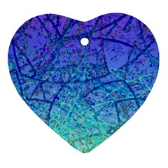 Grunge Art Abstract G57 Heart Ornament (two Sides)