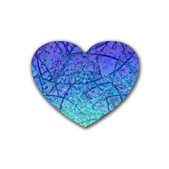 Grunge Art Abstract G57 Rubber Coaster (Heart)