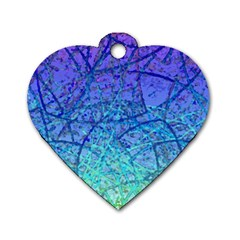 Grunge Art Abstract G57 Dog Tag Heart (Two Sides)