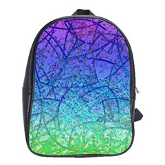 Grunge Art Abstract G57 School Bag (Large)