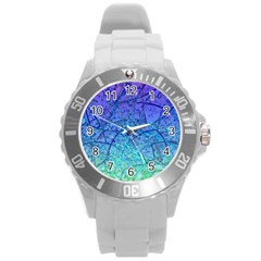 Grunge Art Abstract G57 Round Plastic Sport Watch (L)