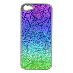 Grunge Art Abstract G57 Apple iPhone 5 Case (Silver)