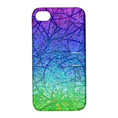 Grunge Art Abstract G57 Apple iPhone 4/4S Hardshell Case with Stand