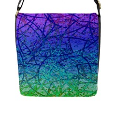 Grunge Art Abstract G57 Flap Closure Messenger Bag (L)