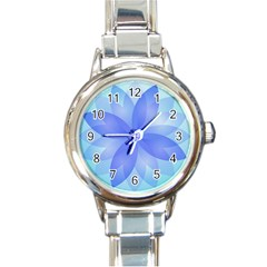 Abstract Lotus Flower 1 Round Italian Charm Watch