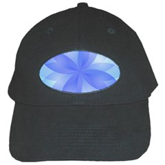 Abstract Lotus Flower 1 Black Baseball Cap