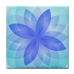Abstract Lotus Flower 1 Ceramic Tile