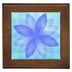 Abstract Lotus Flower 1 Framed Ceramic Tile