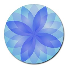 Abstract Lotus Flower 1 8  Mouse Pad (Round)