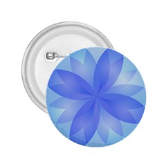 Abstract Lotus Flower 1 2.25  Button