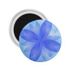 Abstract Lotus Flower 1 2.25  Button Magnet