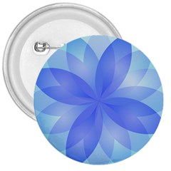 Abstract Lotus Flower 1 3  Button