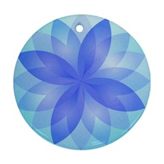 Abstract Lotus Flower 1 Round Ornament
