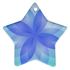Abstract Lotus Flower 1 Star Ornament