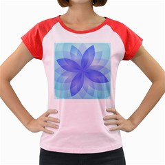Abstract Lotus Flower 1 Women s Cap Sleeve T-Shirt (Colored)