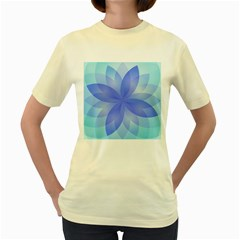 Abstract Lotus Flower 1 Women s T-shirt (Yellow)