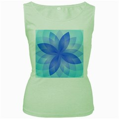 Abstract Lotus Flower 1 Women s Tank Top (green)