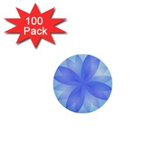 Abstract Lotus Flower 1 1  Mini Button (100 pack)