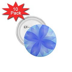 Abstract Lotus Flower 1 1.75  Button (10 pack)
