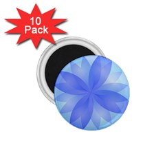 Abstract Lotus Flower 1 1.75  Button Magnet (10 pack)