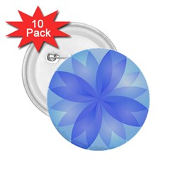 Abstract Lotus Flower 1 2 25  Button (10 Pack)
