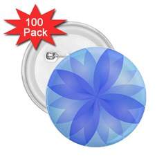 Abstract Lotus Flower 1 2 25  Button (100 Pack)