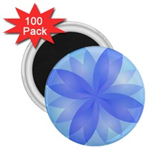 Abstract Lotus Flower 1 2.25  Button Magnet (100 pack)