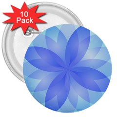 Abstract Lotus Flower 1 3  Button (10 Pack)